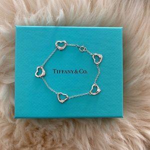 Tiffany & Co. Open Heart Silver Bracelet Small